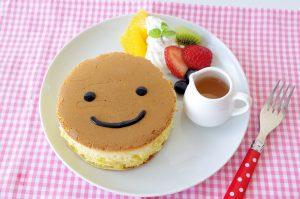 顔入りパンケーキ